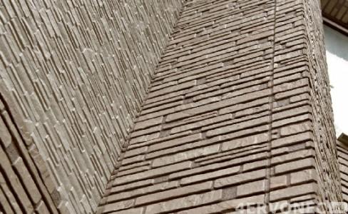 Облицовка фиброцементным сайдингом с имитацией кирпичной кладки