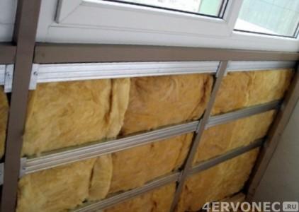 Обшивка балкона внутри теплоизолирующим материалом