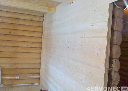 Фото помещения после монтажа деревянного блок-хауса