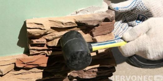 Резиновый молоток для искусственного камня