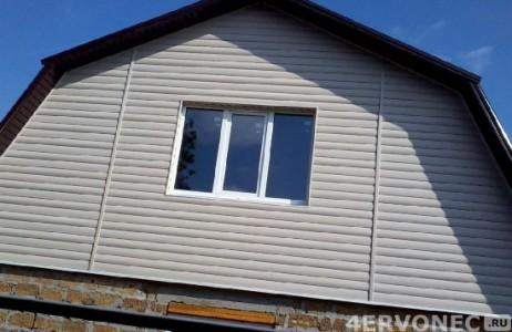Отделка сайдингом фронтона кирпичного дома