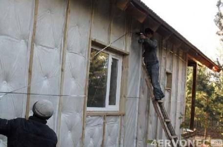 Фото фасада дома с утеплителем