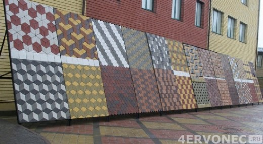 Разнообразие плиток и рисунков из них